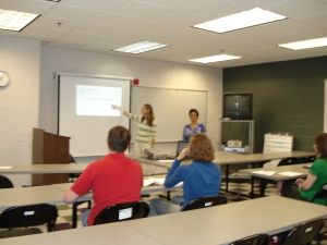 Americorps members recieve training for the upcoming months.