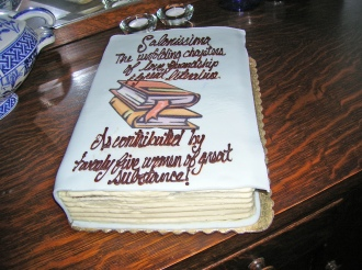 book group cake