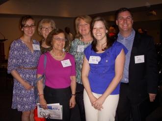 A few of the LCNV staff and board members at the award ceremony: Erin Finn, Kitty Porterfield, Elise Bruml, Anne Spear, Suzie Eaton, and John Odenwelder