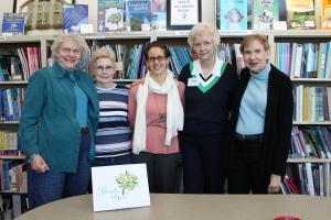 L to R: Fay Menacker, Mary McClelland, Ruba M. Afzal, Julie Bettenberger, Carol Smith
